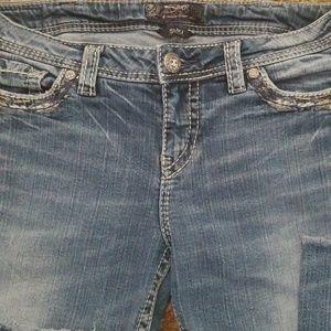 Silver SUKI MID STRAIGHT Jeans SZ 31W/32L